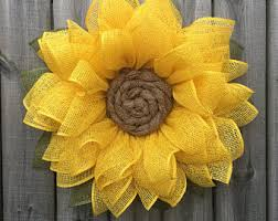 burlap sunflower wreath summer sunflower wreath sunflower wreath summer front door