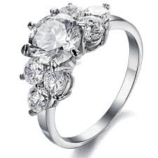 women s engagement rings women s stainless steel cubic zirconia engagement ring wedding