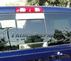 dodge ram rear window 2002 2008 dodge ram 1500 03 09 2500 2pc rear window tailgate trim