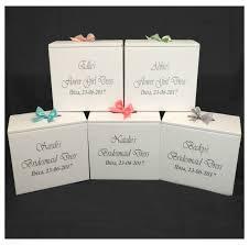wedding dress box wedding dress travel box personalised bridesmaid smaller size