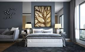 tendance chambre coucher decoration couleur peinture tendance chambre coucher gris