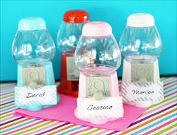 personalized party favors gumball machine favors gumball machine place card holders