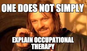 Occupational Therapy Memes - meme creator one does not simply explain occupational therapy