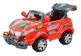 red toy jeep buy toyhouse thunder jeep 6v rechargeable battery operated ride on