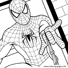 spiderman shooting s6fc9 coloring pages printable