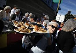 the homeless and hungry are welcomed to thanksgiving feasts la times