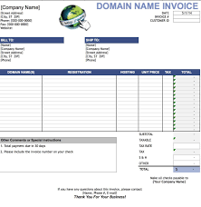 Sales Invoice Template Excel Free Domain Name Invoice Template Excel Pdf Word Doc