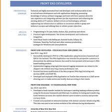 Front End Web Developer Resume Sample Web Developer Resumes