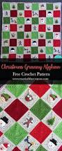 crochet home decor free patterns crocheted christmas granny square afghan free crochet blanket