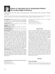 language setting pattern used in society questions and response options regarding use of interpreters for