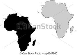 africa map black and white africa map black and white mercator projection vector clipart