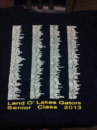 high school senior shirts senior shirts are in land o lakes high school