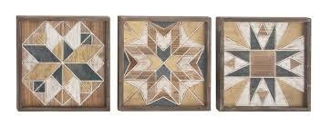 3 wood wall decor set reviews joss