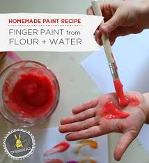 paint recipe for kids finger homemade and craft