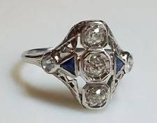art deco sapphire ring ebay
