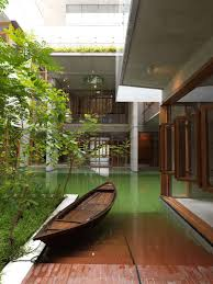 rafiq azam house with pool of water in dhaka floornature