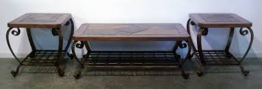 coffee table and end tables coffee table model slate end tables log and furniture gallery til