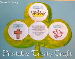 printable trinity shamrock craft perfect craft for st patrick u0027s day