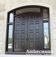Double Front Entrance Doors by Check Out This Gorgeous Amberwood Custom Mahogany Double Entry
