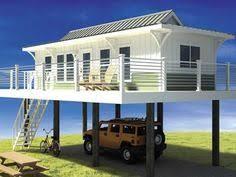 Modern Beach House Plan 44073td Modern Piling Loft Style Beach Home Plan Spaces
