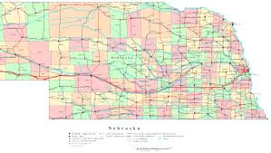 New York State Map With Cities And Towns by Nebraska Map Free Large Images