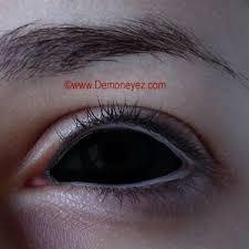 black sclera halloween contact lenses demon eyez halloween
