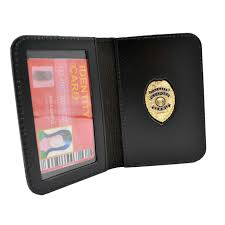 mini concealed weapons permit mini badge id wallet