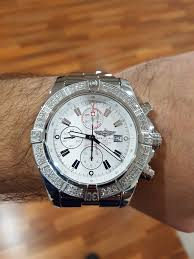breitling bentley diamond diamond setting by us on a breitling super avenger luxury