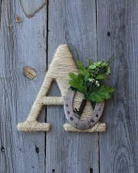 rustic wrapped letter a rustic letter country decor twine