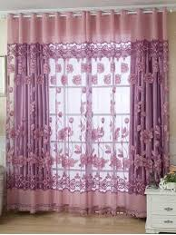 Pink And Purple Curtains Window Curtains Rosegal Com