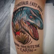 dinosaur tattoo on calf best tattoo ideas gallery