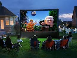Backyard Movie Night Rental Outdoor Movie Projector