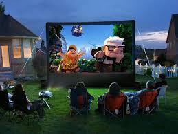 Backyard Projector Screen by Outdoor Movie Projector