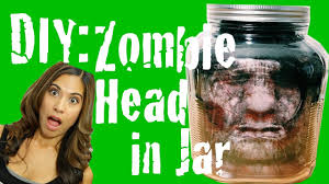 diy zombie head in jar youtube