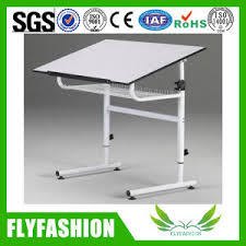 Wooden Drawing Desk China Wood Top Drafting Table With Metal Frame Drawing Desk Ct 45