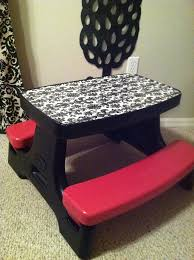 diy repurposed little tikes table 2 cans of spray paint damask
