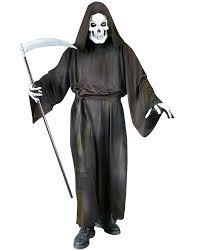cl89 mens grave reaper scary halloween fancy dress costume robe