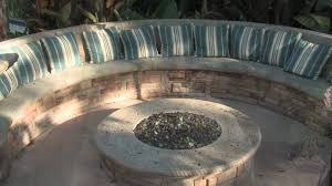 Firepit Seating Gas Pit Seating Misting System