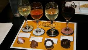 chocolate wine wine pairing at world of chocolate museum