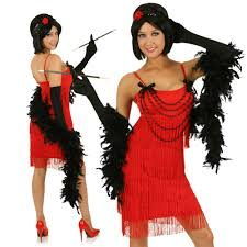 halloween 1920s costumes red flapper dress 1920s costume