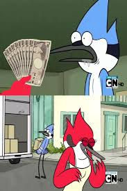 Regular Show Meme - mordecai trolled regular show know your meme