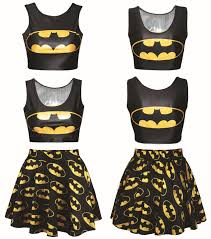 women u0027s cartoon emoji midriff crop shirt u0026 high waist pleated