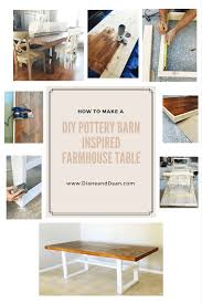 diy pottery barn inspired farmhouse table you can easily make with