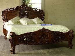 Rococo Bed Frame Reproduction Mahogany Rococo Style Carved Bed