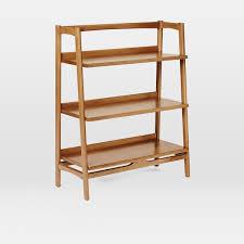 low narrow bookcase mid century bookshelf low west elm uk