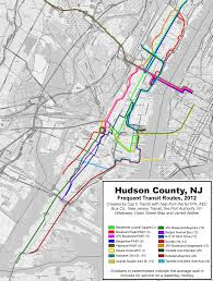 hudson light rail schedule maps jitney buses of new jersey