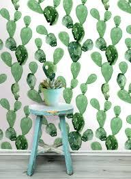 cactus wall mural self adhesive fabric wallpaper zoom