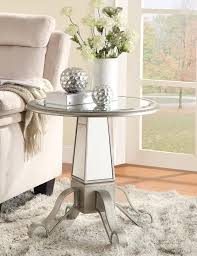 round mirrored accent table home design ideas