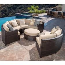 How To Restore Wicker Patio Furniture - belmont 4 piece curved sectional set