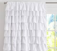 Ebay Pottery Barn Curtains Curtain Ruffled Curtains Ebay Inside Ruffled White Curtains